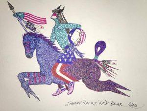 american-flag-horseback