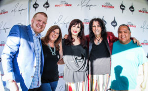 Recruiter Jimmy Baldwin, Nurse Janet, Sheryl and Alice Cooper and Mr.Begay