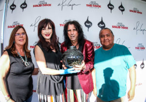 Nurse Janet, Sheryl and Alice Cooper and Mr. Begay